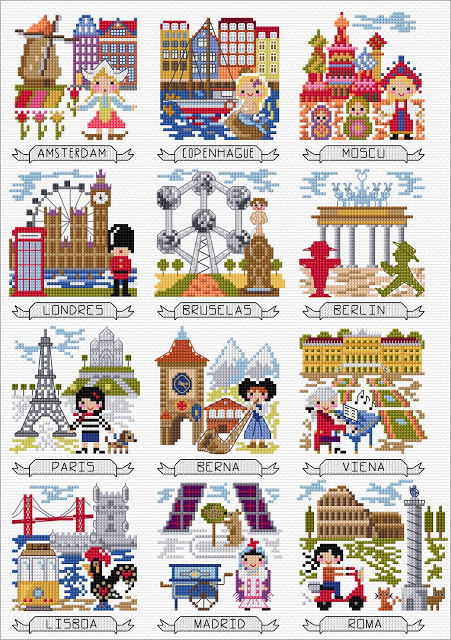 Travel Through Europe Free Pattern SAL from DMC
